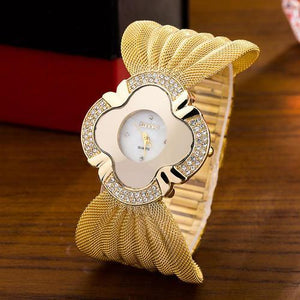 Elegant Butterfly Gold Watch