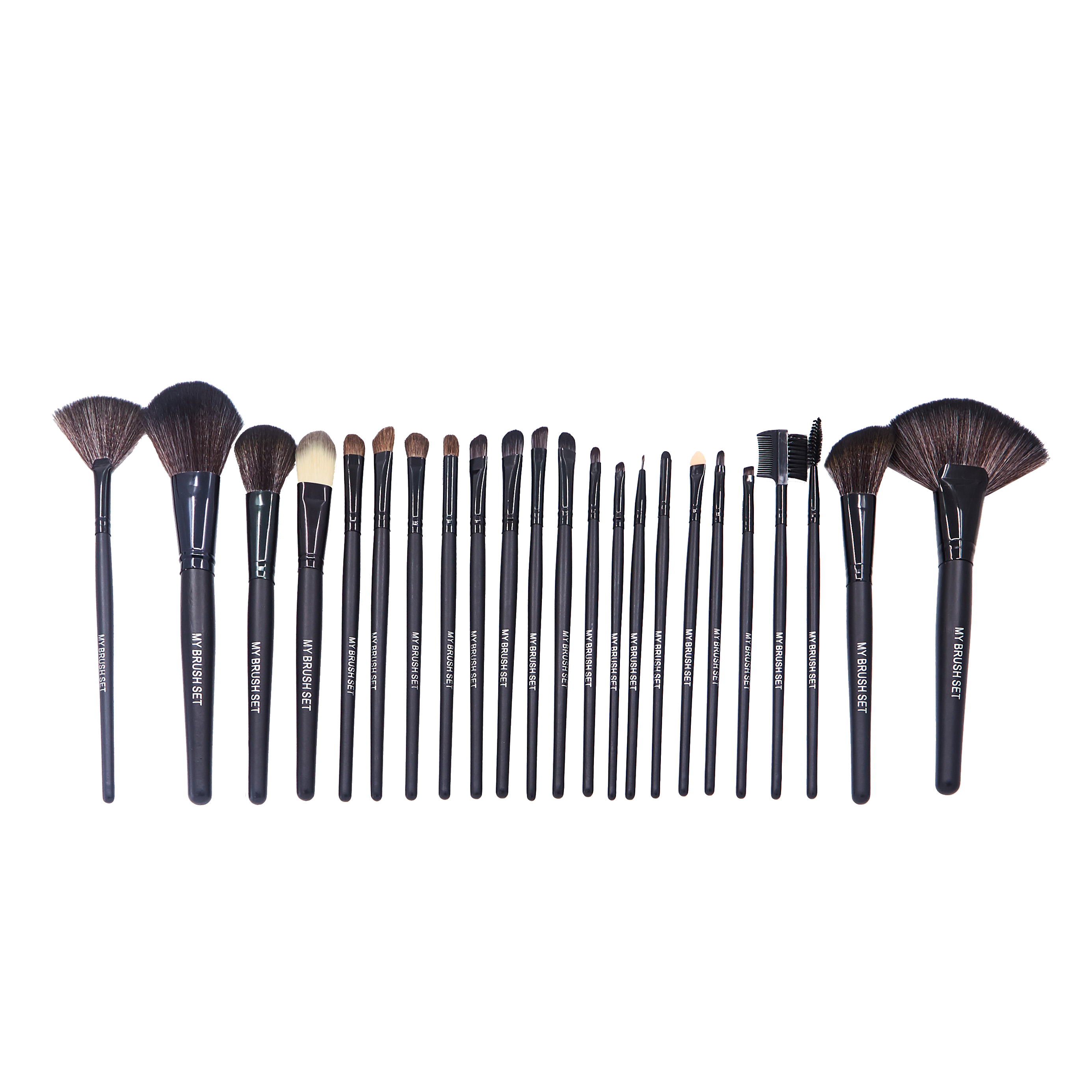 24 Piece Jet Black Brush Set