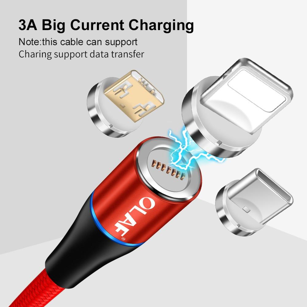 Magnetic Cable Quick charge 3.0 Fast Charging for iPhone Samsung