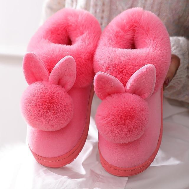 Double Comfy Bunny Slippers