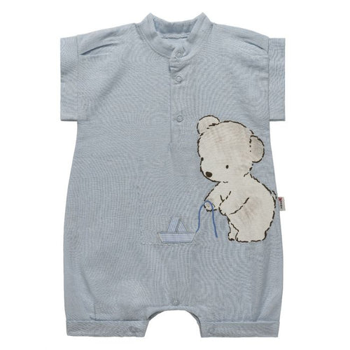Blue Baby Bear Romper
