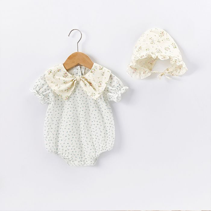 'Louise' Romper and Bonnet Set