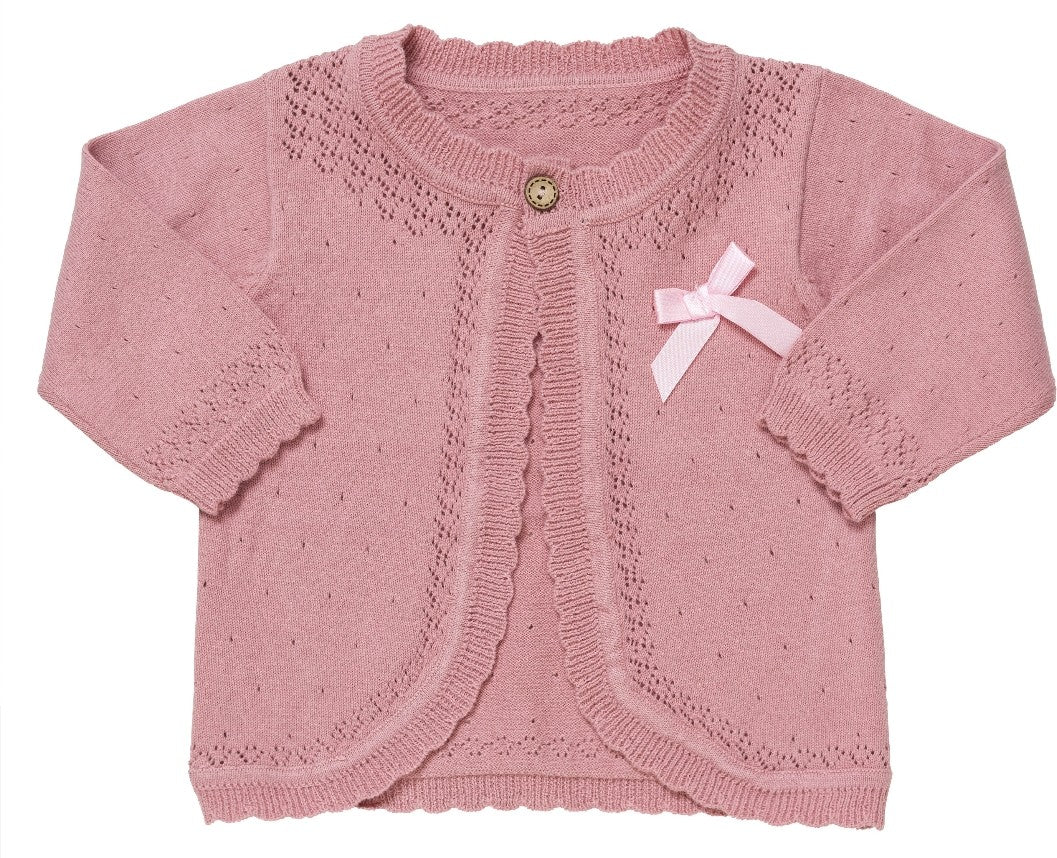 Dusky pink cardigan (2 years)