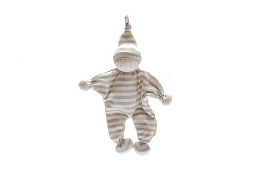 Baby Comforter - Grey Stripes