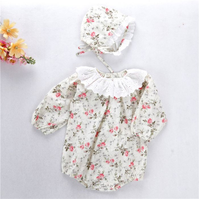 'Kitty' Romper & Bonnet Set