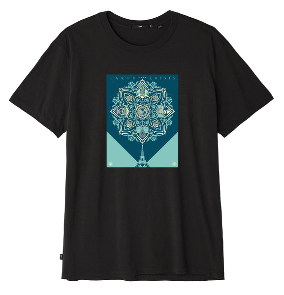 Obey Earth Crisis Sustainable T-Shirt - Off Black