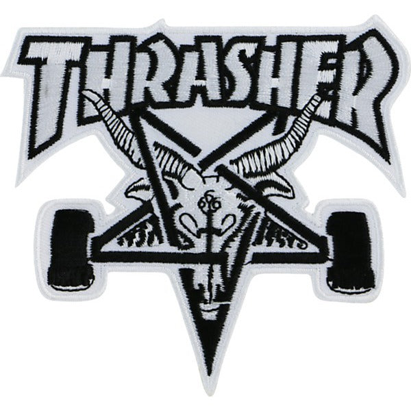 Thrasher Goat Iron on Patch White/Black
