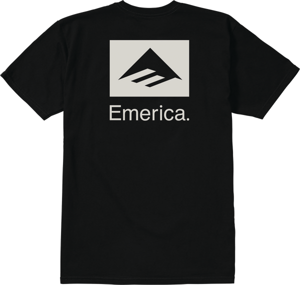 Emerica Brand Combo T-Shirt Black