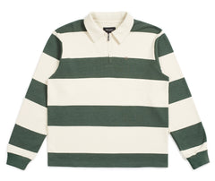 Brixton B-Shield 1/2 Zip Polo - Cypress/Ivory