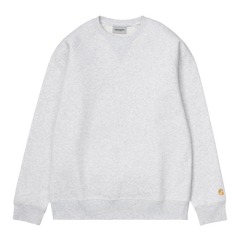 Carhartt WIP Chase Sweat -  Ash Heather/Gold