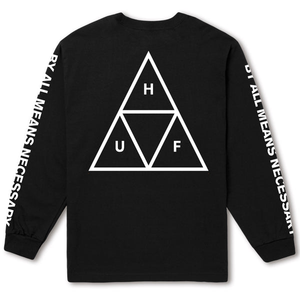 HUF Essentials TT L/S Tee - Black