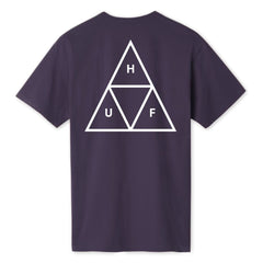 Huf Triple Triangle T-Shirt - Purple Velvet
