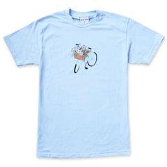 Skate Cafe Flower Basket - T-Shirt Powder Blue