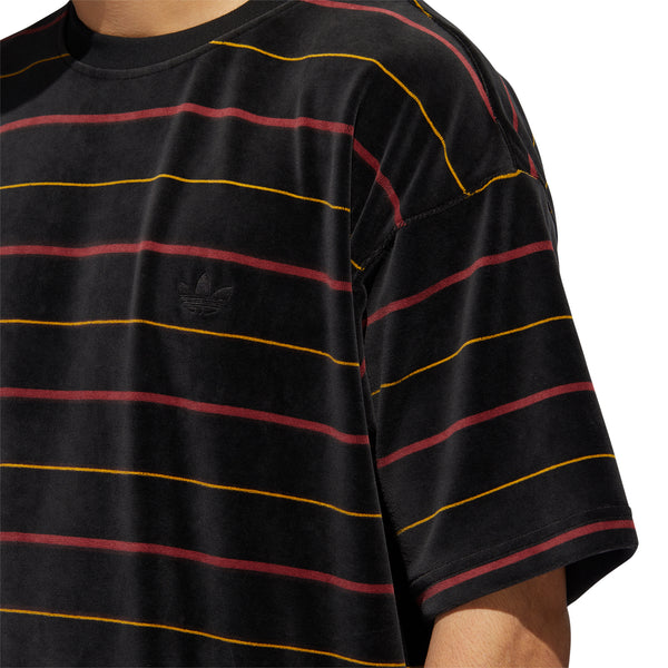 Adidas SS Velour Jersey - Black/Red/Gold