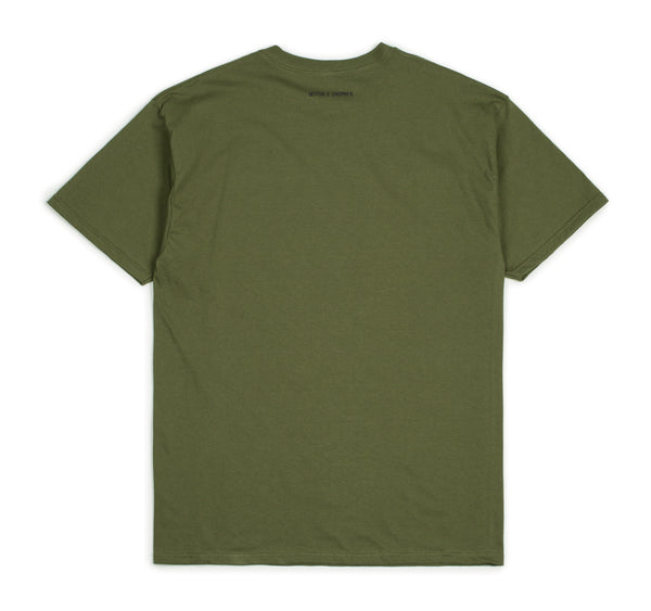 Brixton X Strummer Know Your Rights II S/S Tee - Military Green