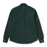 Carhartt WIP L/S Tony Shirt - Dark Teal Rigid