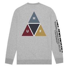 Huf Prism Crew - Grey Heather