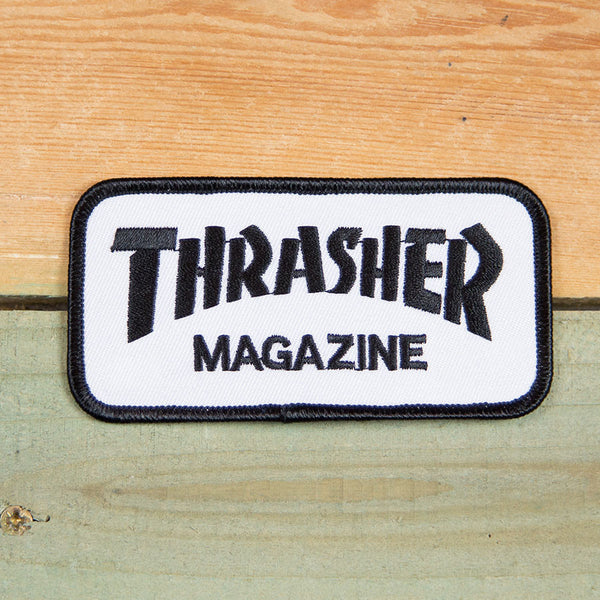 Thrasher Iron on Patch White/Black