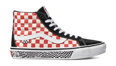 Vans Skate Sk8-Hi Reissue - Grosso '88 Black/Red Check