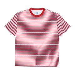 Polar Skate Co - Stripe Logo Tee - Red
