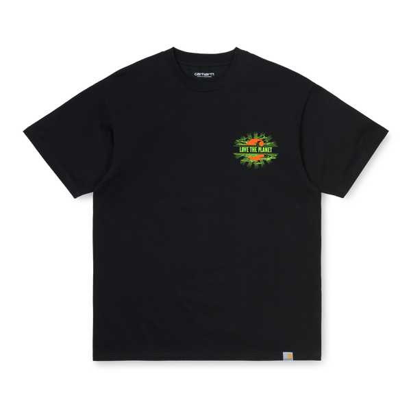 Carhartt WIP S/S Love Planet T-Shirt - Black