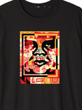 Obey - 3 Face Collage T-Shirt - Black