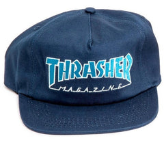 Thrasher Outlined Snapback - Navy/Gray