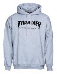Thrasher Logo Hoody - Heather Grey