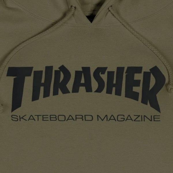 Thrasher Logo Hoody - Army Green