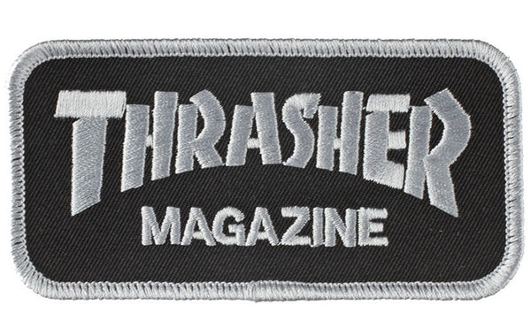 Thrasher Iron on Patch Black/Grey