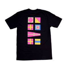 Forw4rd Nautical Flags - Black/Pink