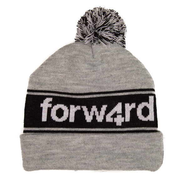 Forw4rd Bobble Hat - Grey / White