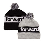 Forw4rd Bobble Hat - Black / White