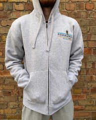 Forw4rd Zip Meggies Hoody - Heather Grey