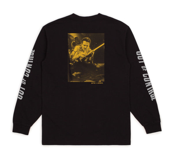 Brixton X Strummer Out Of Control L/S Standard Tee - Black
