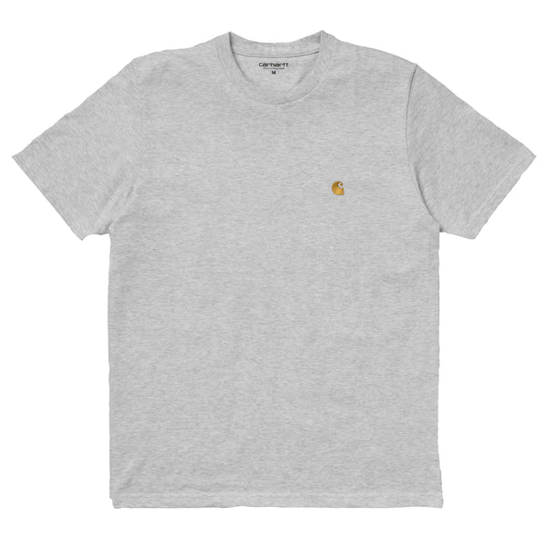 Carhartt WIP S/S Chase T-Shirt - Ash Heather/Gold