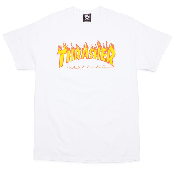 Thrasher Flame Logo Shirt - White