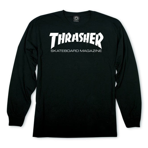 Thrasher L/S  T-Shirt - Black