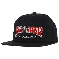 Thrasher Cap Outlined Snapback - Black