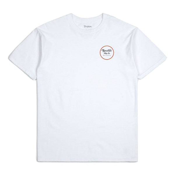 Brixton Wheeler II S/S Standard Tee - White/Black/Red
