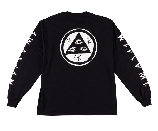 Welcome - Tali-Scrawl Long Sleeve Tee - Black/White