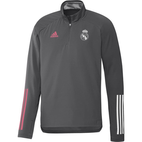 Herensweater zonder Capuchon Real Madrid Adidas WRM TOP Grijs