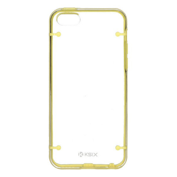 Koffer iPhone 5C KSIX Edge Geel Transparant
