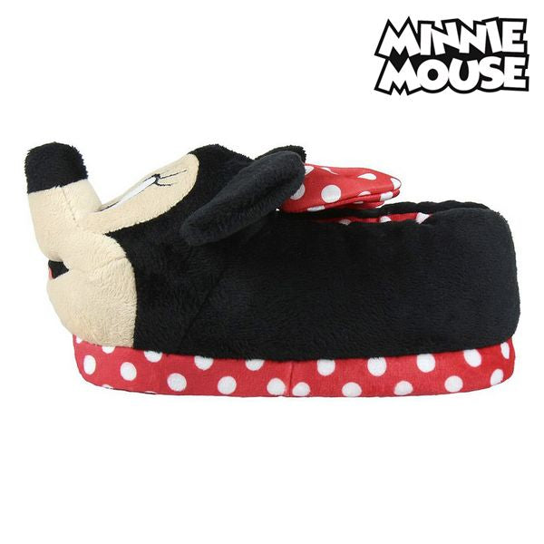 Slippers Voor in Huis 3d Minnie Mouse Rood