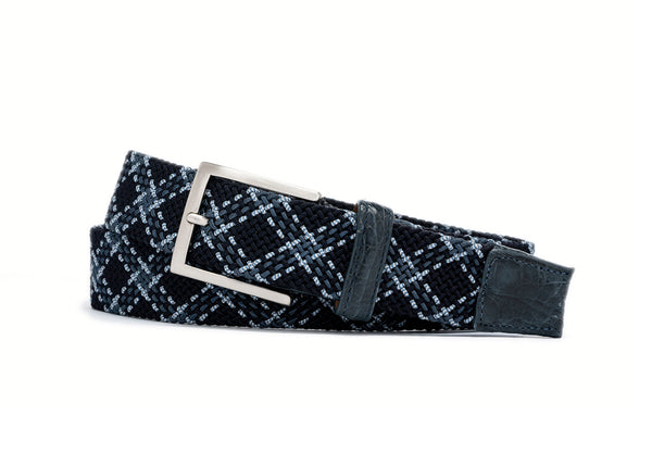 Stretch Belt - Pacific Plaid