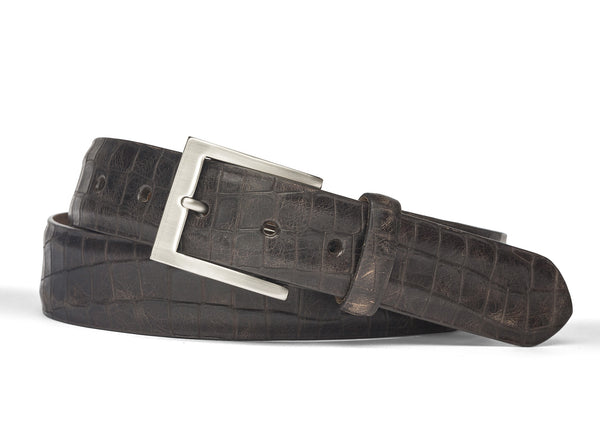 Crocodile Belt - Chocolate