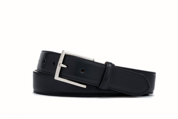 Glazed Nappa Belt - Black