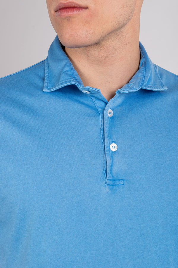 Organic Cotton Polo - Blue