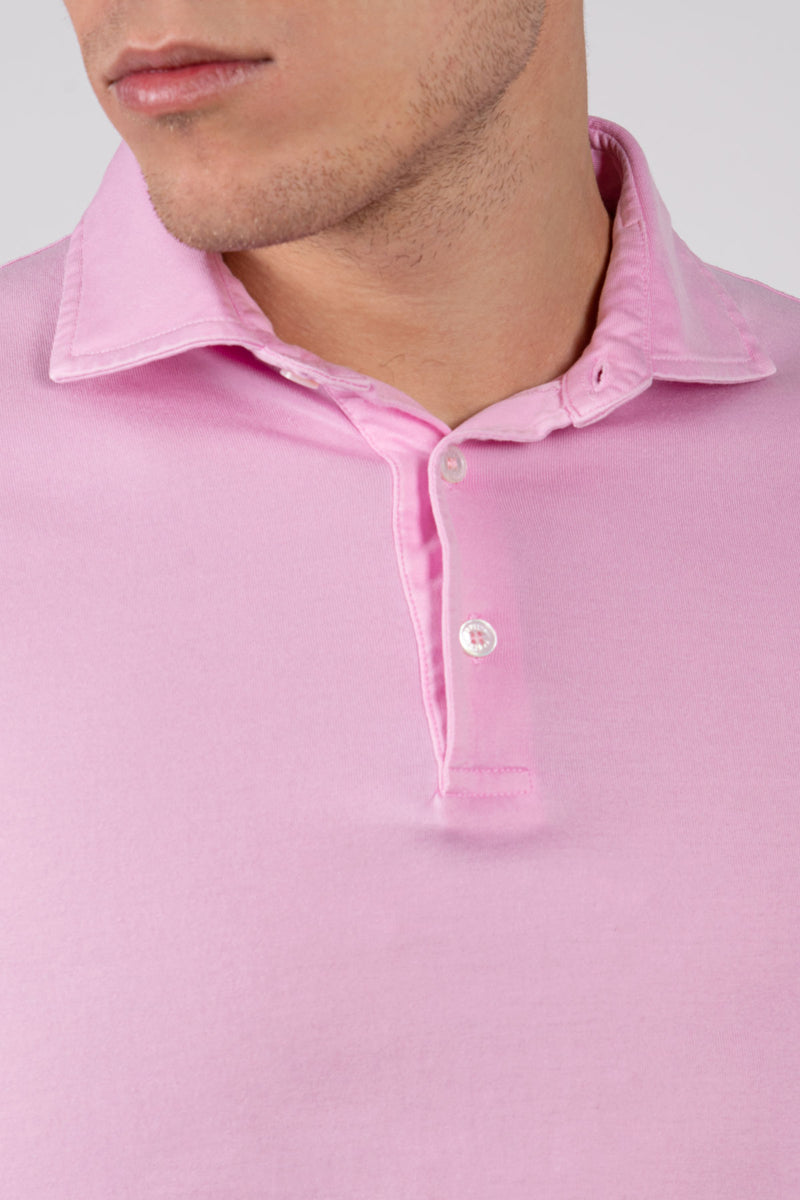 Organic Cotton Polo - Pink