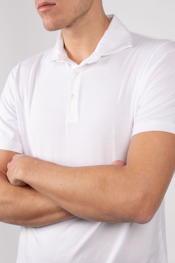 Organic Cotton Polo - White